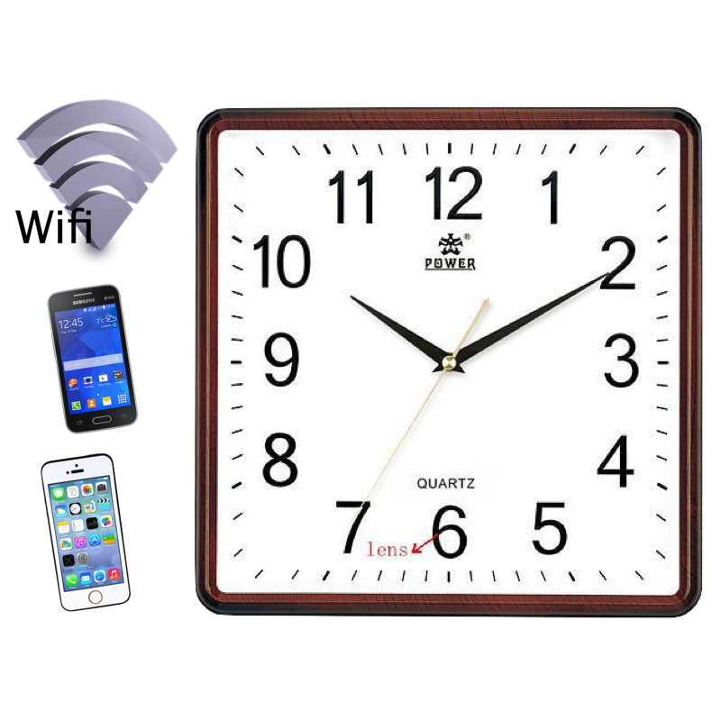 horloge cam ra wifi acc s distance sur mobile camera. Black Bedroom Furniture Sets. Home Design Ideas